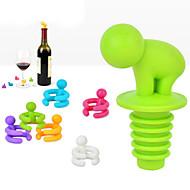 tanie -kreatywny kształt mały korek butelka wina pijany z sześciu kieliszek do wina znacznik śmieszne filiżanka marke losowy kolor