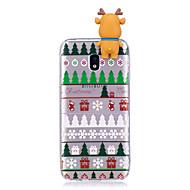 Недорогие Чехлы и кейсы для Galaxy J7(2016)-Кейс для Назначение SSamsung Galaxy J7 (2017) J5 (2017) С узором Своими руками Кейс на заднюю панель Рождество 3D в мультяшном стиле