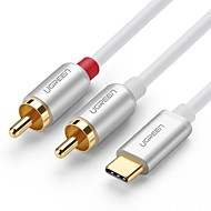 UGREEN USB 2.0タイプC アダプターケーブル, USB 2.0タイプC to 2.5mm アダプターケーブル オス―オス 2.0メートル(6.5Ft)