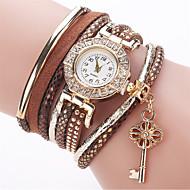 Недорогие Женские часы-Жен. Имитационная Четырехугольник Часы Часы-браслет Модные часы Китайский Кварцевый Имитация Алмазный PU Группа Кулоны На каждый день