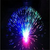 1pc karácsonyi színes zseblámpa rost optikai csillagfényes fluoreszcencia rózsa virágok fény lámpa ki akkumulátor