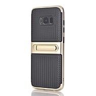 Недорогие Чехлы и кейсы для Galaxy Note-Кейс для Назначение SSamsung Galaxy Note 8 со стендом Кейс на заднюю панель Полосы / волосы Твердый ПК для Note 8