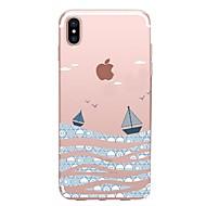 Кейс для Назначение Apple iPhone X iPhone 8 iPhone 8 Plus Прозрачный С узором Задняя крышка Пейзаж Мягкий TPU для iPhone X iPhone 8 Plus