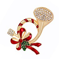 cheap Christmas Jewelry-Women's Synthetic Diamond Brooches - Gold Brooch For Christmas / Daily / Women's / Synthetic Diamond