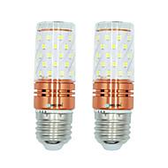 billige LED-kolbepærer-brelong 2 stk 12w e27 60led smd2835 majs lys ac220v varm / hvid hvid / dobbelt lys farve