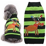 katten honden Truien Hondenkleding Winter Rendier Schattig Modieus Kerstmis Groen