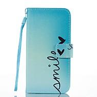 Кейс для Назначение SSamsung Galaxy Кошелек Бумажник для карт со стендом Флип С узором Магнитный Чехол Слова / выражения Твердый