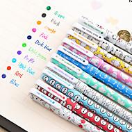 voordelige Schrijfwaren-gel Pen Pen Gel Pennen Pen, Muovi Rood / Zwart / Blauw Inktkleuren For Schoolspullen Kantoor artikelen Pakje 10pcs