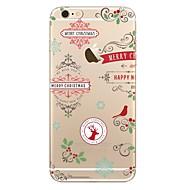 Недорогие Модные популярные товары-Кейс для Назначение Apple iPhone X / iPhone 8 / iPhone 8 Plus Прозрачный / С узором Кейс на заднюю панель Рождество Мягкий ТПУ для iPhone X / iPhone 8 Pluss / iPhone 8