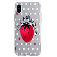 Кейс для Назначение Apple iPhone X iPhone 8 iPhone 8 Plus Прозрачный С узором Задняя крышка Сияние и блеск Фрукты Мягкий TPU для iPhone X
