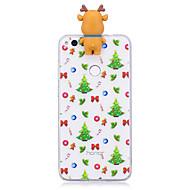 voordelige Mobiele telefoonhoesjes-hoesje Voor Huawei P9 Huawei P9 Lite Huawei P10 Lite P8 Lite (2017) Patroon DHZ Achterkant Kerstmis 3D Cartoon Zacht TPU voor P10 Lite