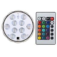 voordelige Slimme LED-lampen-1set 4w led slimme gloeilampen duiklamp 10 smd 5050 200-250lm rgb waterdichte rgb afstandsbediening decoratieve dc4.5 v