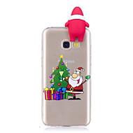 Недорогие Чехлы и кейсы для Galaxy A5(2016)-Кейс для Назначение SSamsung Galaxy A7(2017) A5(2017) С узором Своими руками Кейс на заднюю панель Рождество 3D в мультяшном стиле Мягкий