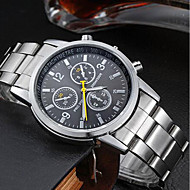 Men's Quartz Wrist Watch Chinese Water Resistant / Water Proof Stainless Steel Band Charm Silver