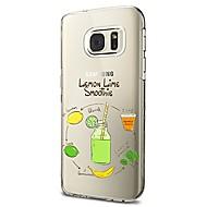 Кейс для Назначение SSamsung Galaxy S8 Plus S8 Прозрачный С узором Задняя крышка Продукты питания Фрукты Мягкий TPU для S8 S8 Plus S7