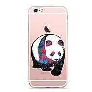 для крышки корпуса ультратонкий прозрачный узор задняя крышка чехол panda soft tpu для apple iphone x iphone 8 plus iphone 8 iphone 7 plus