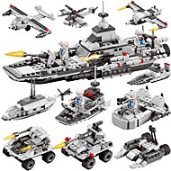 DIY KIT Building Blocks Boat Toys Warship Aircraft Military DIY Classic New Design Boys Girls Pieces
