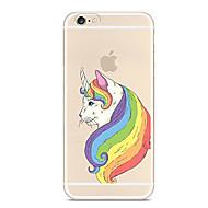 Недорогие Кейсы для iPhone 8-Кейс для Назначение Apple iPhone X iPhone 8 iPhone 8 Plus Ультратонкий Прозрачный С узором Кейс на заднюю панель единорогом Мягкий ТПУ для