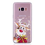 Кейс для Назначение SSamsung Galaxy S8 Plus S8 Прозрачный С узором Задняя крышка Мультипликация Рождество Мягкий TPU для S8 S8 Plus S7