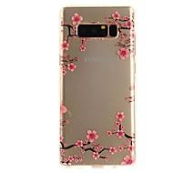 baratos -Capinha Para NNote 8 Ultra-Fina Transparente Estampada Capa Traseira Flor Macia TPU para Note 8 Note 5 Edge Note 5 Note 4 Note 3 Lite