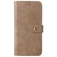 для чехлов держатель карточки держатель кошелек с подставкой флип полный корпус корпус сплошной цвет твердая кожа pu для яблока iphone x