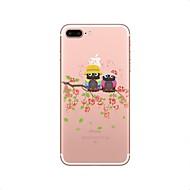 Недорогие Кейсы для iPhone 8-Кейс для Назначение iPhone X iPhone 8 Прозрачный С узором Задняя крышка Сова Мягкий TPU для iPhone X iPhone 8 Plus iPhone 8 iPhone 7 Plus