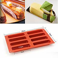 halpa Keittiötarvikkeet-silikoni eclair 8 muodostaa leivonta klassikko kokoelma muotoja sormi ei stick muotti kakku työkaluja