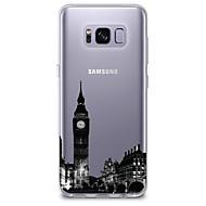 Недорогие Чехлы и кейсы для Galaxy S6 Edge Plus-Кейс для Назначение SSamsung Galaxy S8 S7 Ультратонкий Прозрачный С узором Кейс на заднюю панель Вид на город Мягкий ТПУ для S8 Plus S8