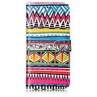 Кейс для Назначение SSamsung Galaxy S8 Plus S8 Кошелек Бумажник для карт со стендом Флип С узором Чехол Полосы / волосы Твердый