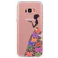 Недорогие Чехлы и кейсы для Galaxy S-Кейс для Назначение SSamsung Galaxy S8 S7 Ультратонкий Прозрачный С узором Кейс на заднюю панель Соблазнительная девушка Мягкий ТПУ для