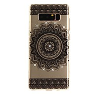 Case For Samsung Galaxy Note 8 Rhinestone Ultra-thin Transparent Pattern Back Cover Lace Printing Soft TPU for Note 8 Note 5 Edge Note 5