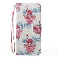 Кейс для Назначение SSamsung Galaxy S8 Plus S8 Кошелек Бумажник для карт со стендом Флип С узором Магнитный Чехол Фламинго Твердый