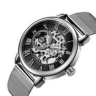 Χαμηλού Κόστους Μηχανικό Ρολόι-Ανδρικά Γυναικεία Διάφανο Ρολόι Στρατιωτικό Ρολόι μηχανικό ρολόι Ιαπωνικά Αυτόματο κούρδισμα Ημερολόγιο Χρονογράφος Ανθεκτικό στο Νερό