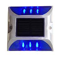 1PCS Aluminum Solar 6-LED Outdoor Road Driveway Dock Path Ground Light Lamp Blue
