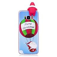Кейс для Назначение SSamsung Galaxy S8 Plus S8 Защита от удара Задняя крышка 3D в мультяшном стиле Рождество Мягкий TPU для S8 S8 Plus S7