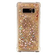 Недорогие Чехлы и кейсы для Galaxy Note-Кейс для Назначение SSamsung Galaxy Note 8 Защита от удара Движущаяся жидкость Прозрачный Кейс на заднюю панель Прозрачный Сияние и блеск