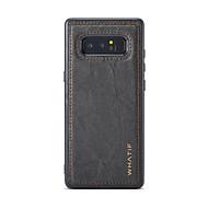 Недорогие Чехлы и кейсы для Galaxy Note-Кейс для Назначение SSamsung Galaxy Note 8 Своими руками Кейс на заднюю панель Сплошной цвет Твердый деревянный для Note 8