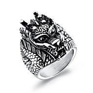 Men's Statement Rings Rock Hiphop Titanium Steel Geometric Jewelry For Carnival Club
