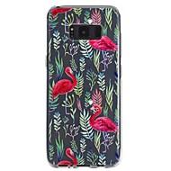 Недорогие Чехлы и кейсы для Galaxy S8 Plus-Кейс для Назначение SSamsung Galaxy S8 Plus S8 Прозрачный С узором Рельефный Кейс на заднюю панель Фламинго Мягкий ТПУ для S8 Plus S8 S7