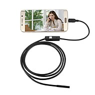 お買い得  -jingleszcn 7ミリメートル防水USB内視鏡カメラアンドロイド1メートルハードケーブル検査borescopeヘビカムPCの窓
