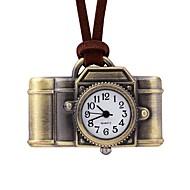 Недорогие Женские часы-Жен. Карманные часы Китайский Кварцевый Повседневные часы Кожа Группа На каждый день Коричневый