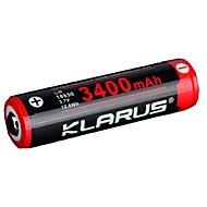 KLARUS 3400mAh batteria Portatile Professionale Facile da portare Alta qualità Leggerezza per 18650 Ioni di litio
