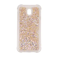 Case For Samsung Galaxy J7 (2017) J5 (2017) Shockproof Flowing Liquid Transparent Back Cover Transparent Glitter Shine Soft TPU for J7