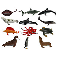cheap Toys & Hobbies-Action & Toy Figures Toys Penguin Dolphin Fish Octopus Shark Animals Pieces Kids Gift