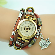 Women's Fashion Watch Bracelet Watch Quartz Alloy Leather Band Black Blue Red Brown