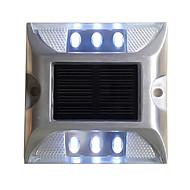 1PCS Aluminum Solar 6-LED Outdoor Road Driveway Dock Path Ground Light Lamp White