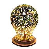 billige LED-globepærer-1pc 4W 350lm E26 / E27 LED-globepærer A60(A19) 28 LED Perler Integreret LED 3D fyrværkeri Starry Dekorativ Multi-farver 85-265V
