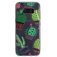 Недорогие Чехлы и кейсы для Galaxy S8 Plus-Кейс для Назначение SSamsung Galaxy S8 Plus S8 Прозрачный С узором Рельефный Кейс на заднюю панель дерево Мягкий ТПУ для S8 Plus S8 S7