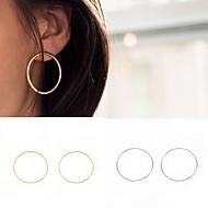 여성용 링 귀걸이 귀걸이 숙녀 유럽의 미니멀 스타일 패션 Euramerican 보석류 골드 / 실버 제품 파티 일상 캐쥬얼