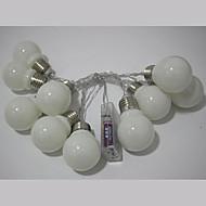 tanie Taśmy świetlne LED-Łańsuchy świetlne 10 Diody LED Ciepła biel Wielokolorowy Prosty Bateria